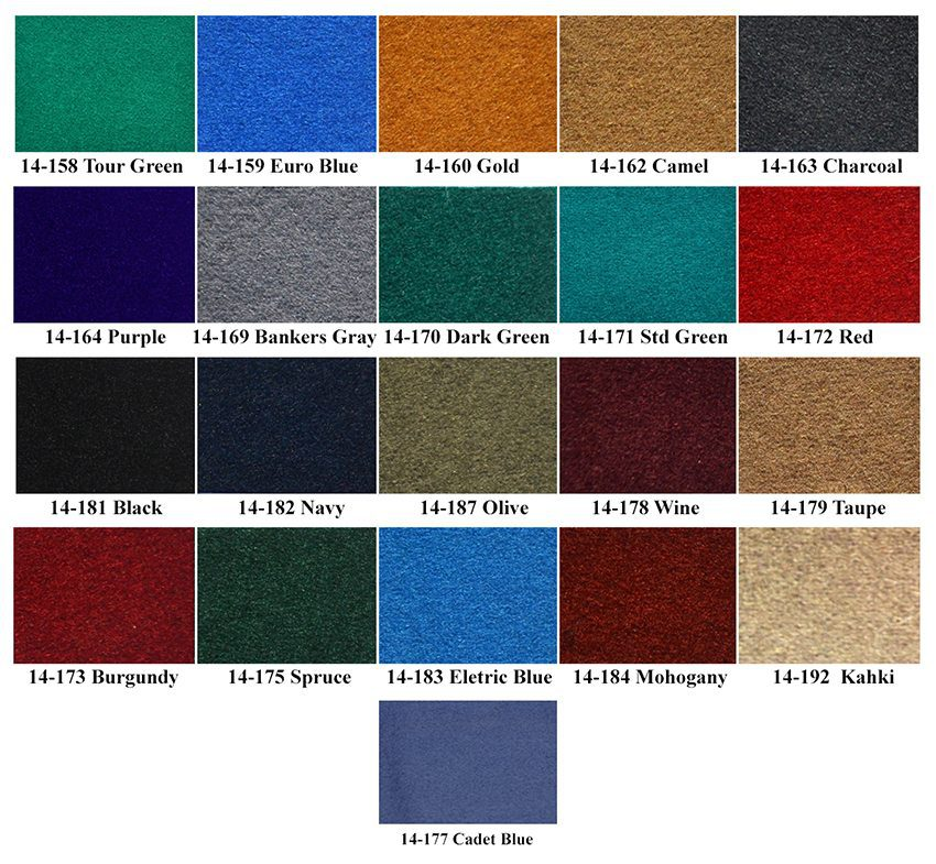 Imperial Pool Table Felt Options