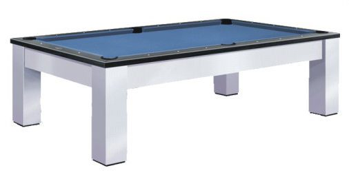 Madison Pool Table by Olhausen Billiards. Brushed Aluminum Finish.