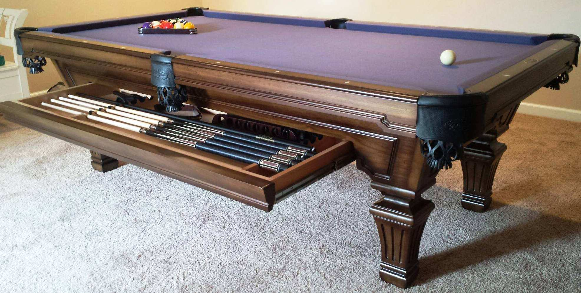 from olhausen drawer in option cherry tables hampton atlantic pin billiards pool table with raleigh and heritage spas