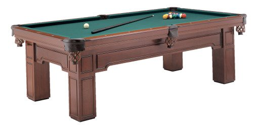Huntington Pool Table by Olhausen Billiards. Cinnamon Finish in Maple Wood.