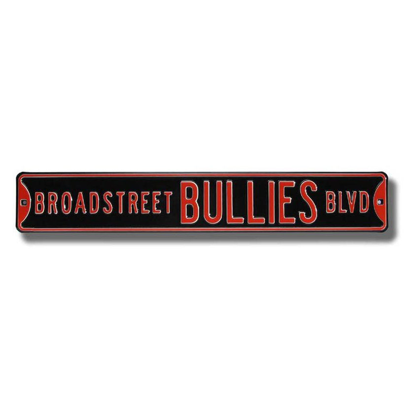 "Broad Street Bullies BLVD Metal ""Street"" Sign"