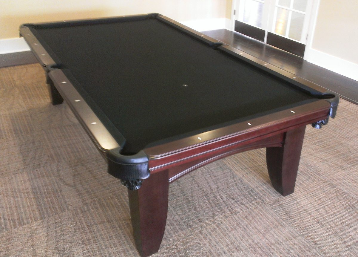 Good Chicago Pool Table By Olhausen Pool Tables Red Wood With Green Felt  With Olhausen Pool Table.