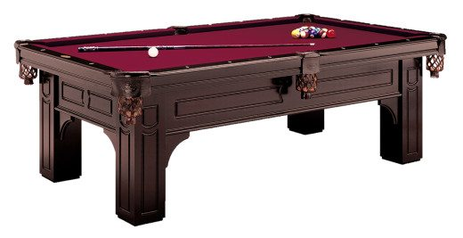 Remington Pool Table by Olhausen Billiards. Traditional Cherry Finish on Maple Wood.