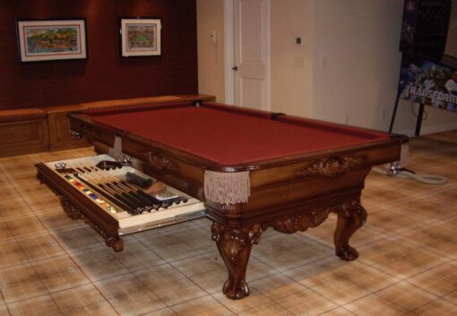 Saint Andrews Pool Table by Olhausen Billiards. Cherry.