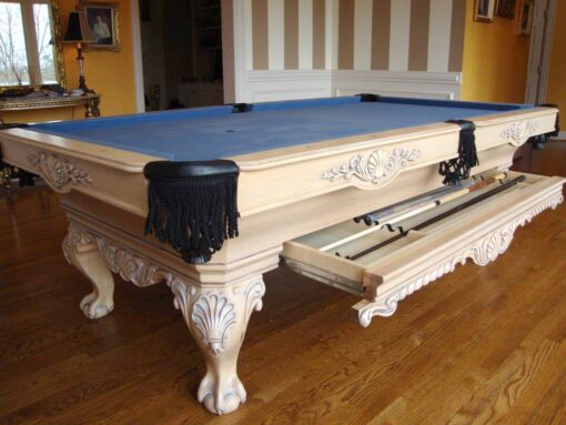 Saint Andrews Pool Table by Olhausen Billiards. White.