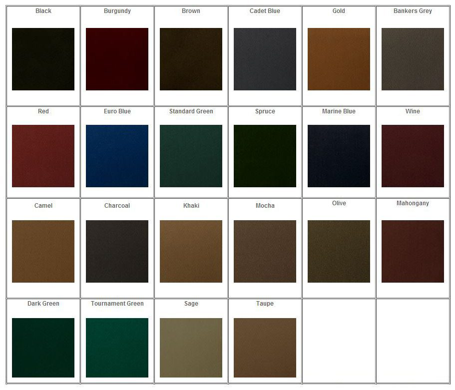 Pool Table Fabric Choices