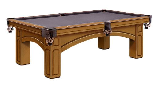 Winchester Pool Table by Olhausen Billiards. Brandywine Finish on Maple Wood.