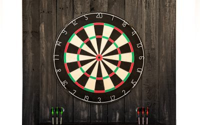 Dartboard Back with Light – Reclaimed Wood