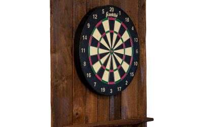 Dartboard Back with Shelf – Reclaimed Wood