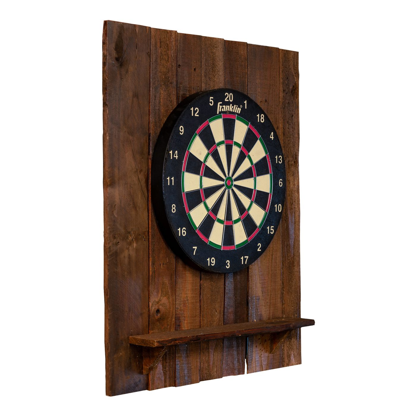 Reclaimed Wood Dartboard Backing with English Board