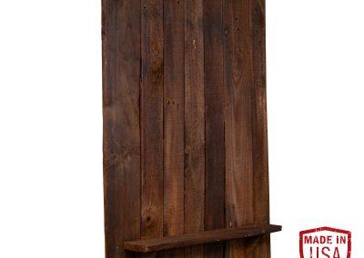 Reclaimed Wood Dartboard Backing - Walnut Finish
