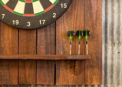 Reclaimed Wood Dartboard Backing - Detail