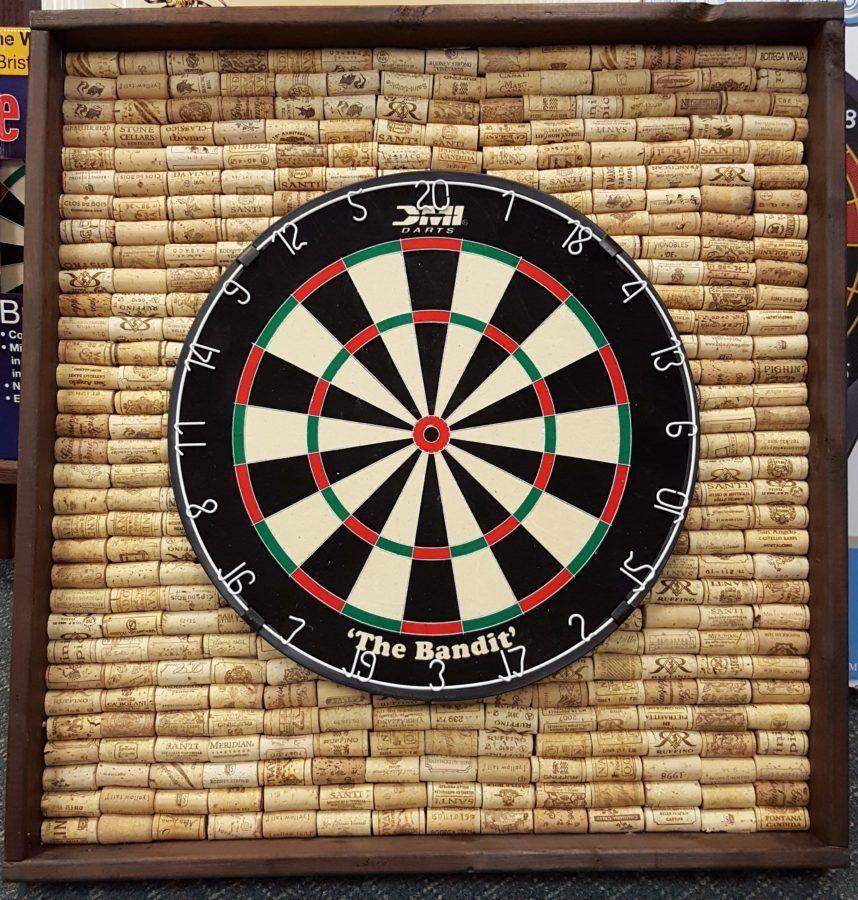 Cork Dart Board Back