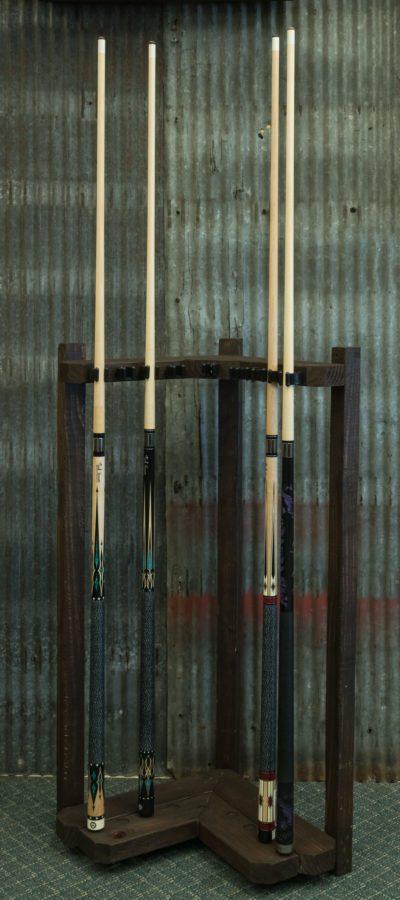 Reclaimed Recreation Corner Cue Rack Royal Billiard