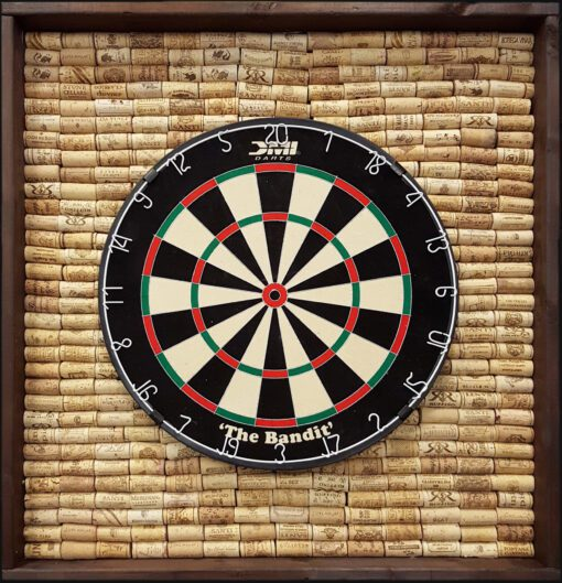 English Dartboard Cabinet with cork back - Walnut