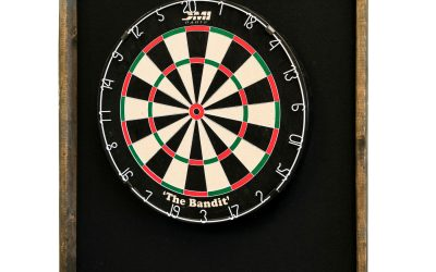 Cloth–Backed Dart Cabinet for English Dartboard- Reclaimed Wood