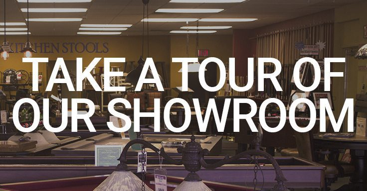 take a tour of our pool table showroom