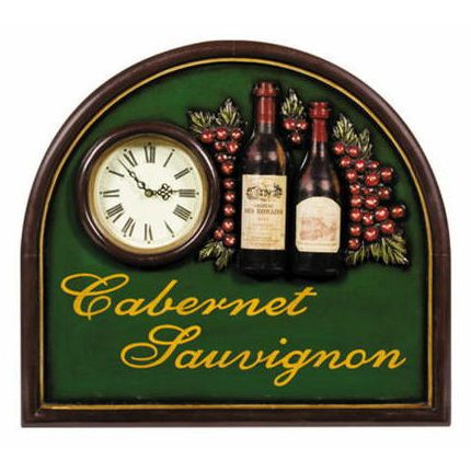 Pub Decoration Sign with clock - Cabernet Sauvignon