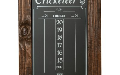 Chalk Cricket (Darts) Scoreboard with Frame – Reclaimed Wood