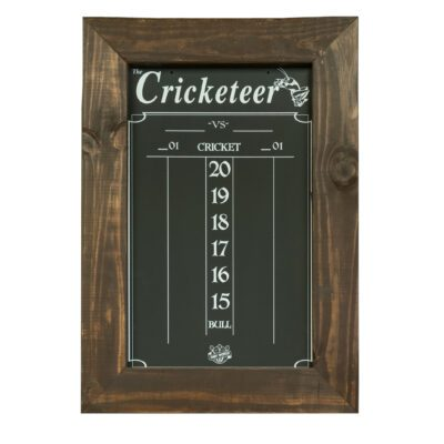 Cricket Scoreboard in Brown Wood Stained Fraime