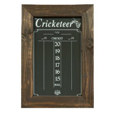 Cricket Scoreboard in Brown Wood Stained Fraime