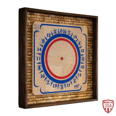 American Dartboard with Bottle Cork Backing Cabinet