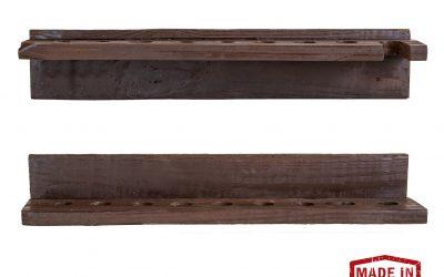 Two-Piece Rustic Cue Rack – Reclaimed Wood