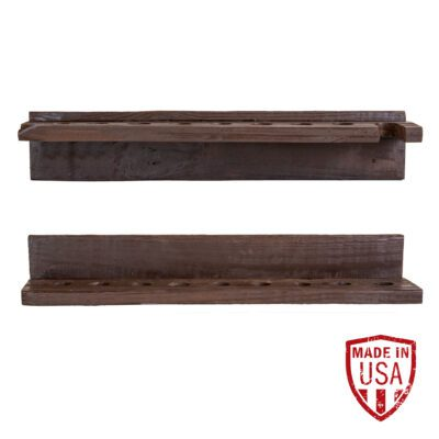 Reclaimed Wood Cue Rack - Walnut Finish