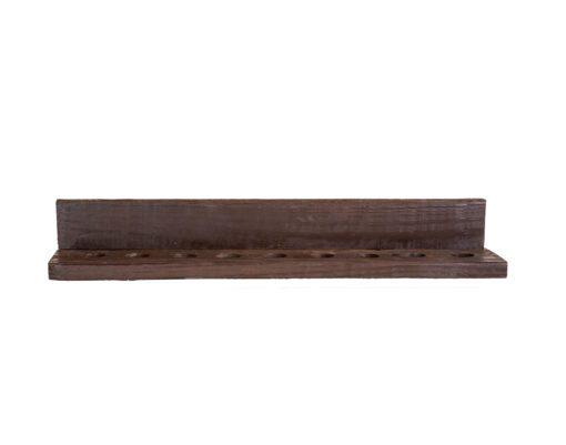 Reclaimed Wood Cue Rack Detail