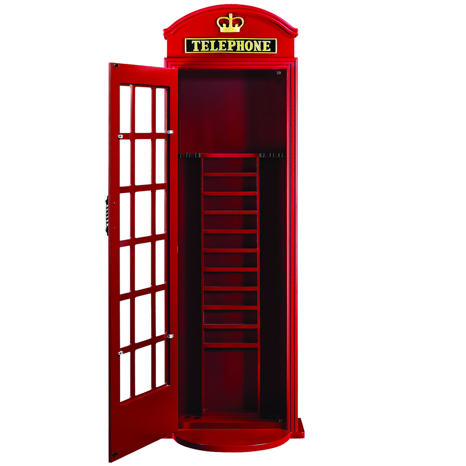 English Phone Booth Cue Rack Royal Billiard Amp Recreation