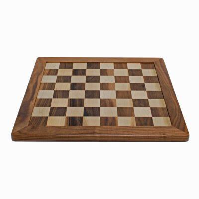 Heirloom Chess Board, Solid Walnut U0026 Maple Wood U2013 19.5 In. (Made In USA)