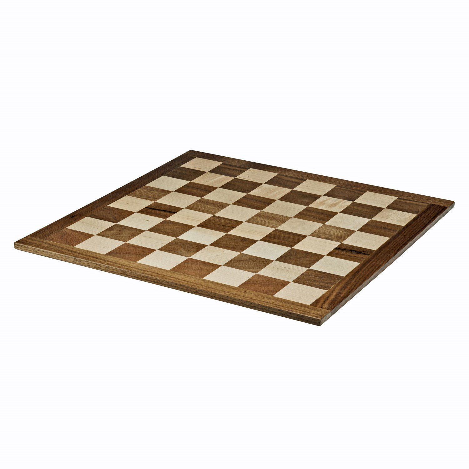Classic Chess Board Solid Walnut Amp Maple Wood 18 In