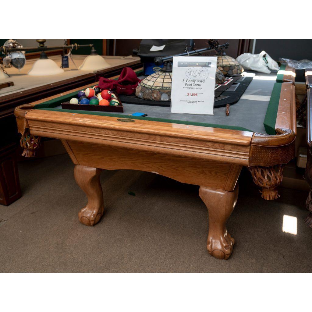 8 Gently Used American Heritage Pool Table Royal
