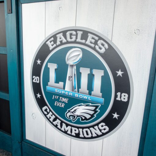NFL Eagles Custom Bar Detail