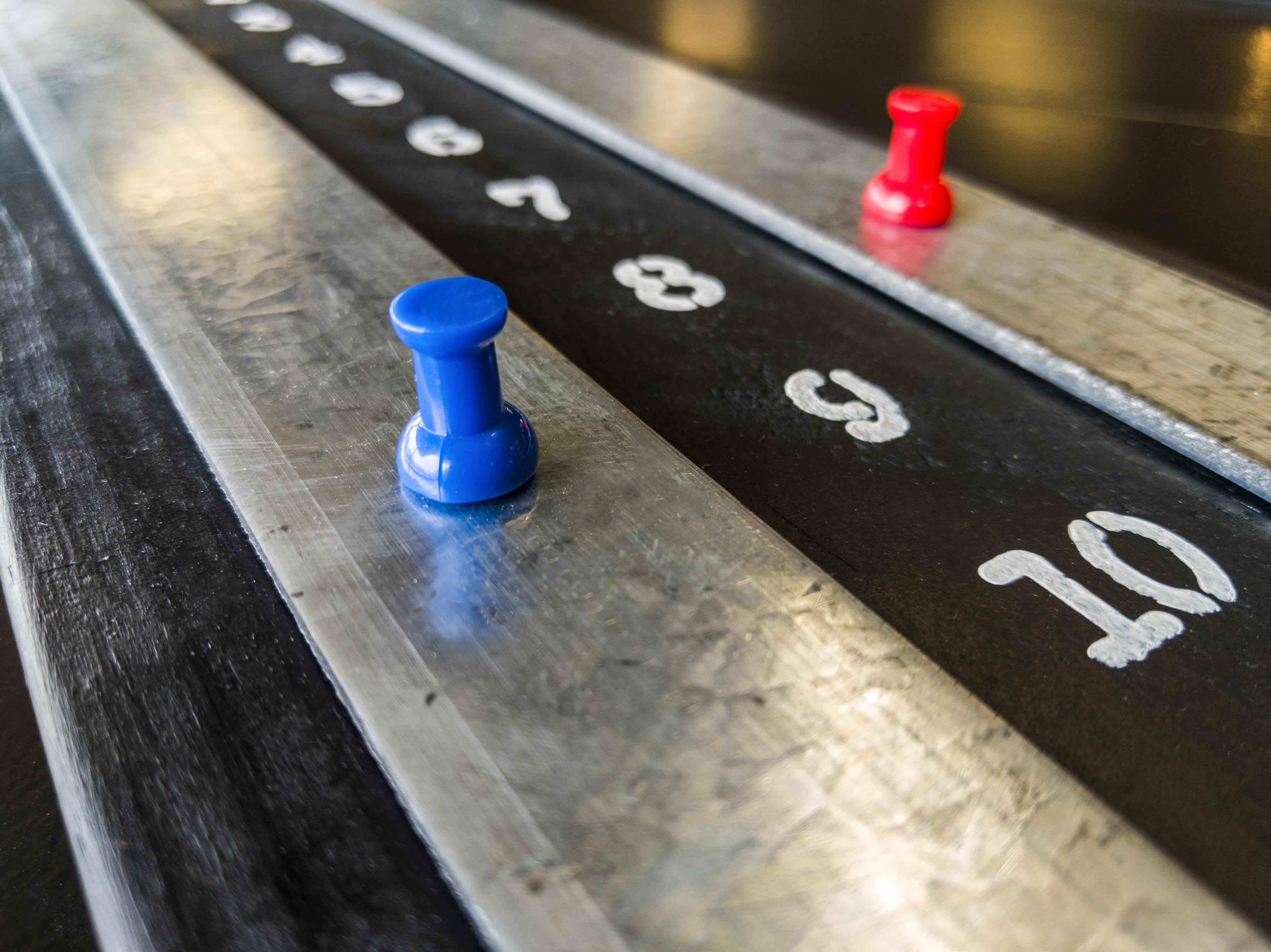 shuffleboard scoreboard magnetic point mark