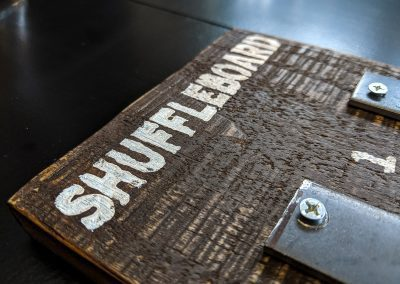 Shuffleboard Scoreboard Detail