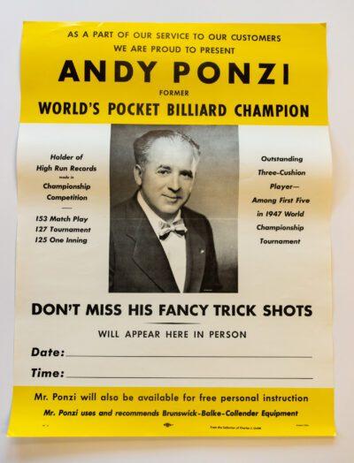 Andy Ponzi billiards poster