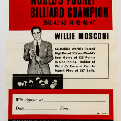Willie Mosconi Billiards poster-02