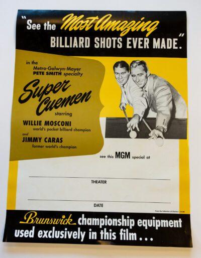 Super Cuemen Billiards Poster