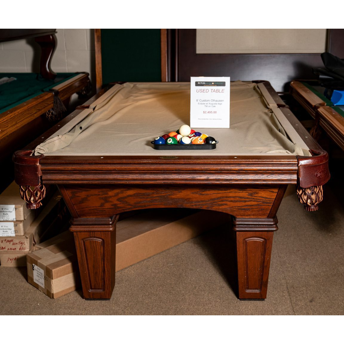 8 Gently Used Olhausen Eclipse Pool Table Royal Billiard Recreation
