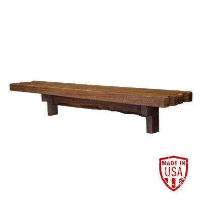 Reclaimed Wood Wall Bar - Walnut Finish