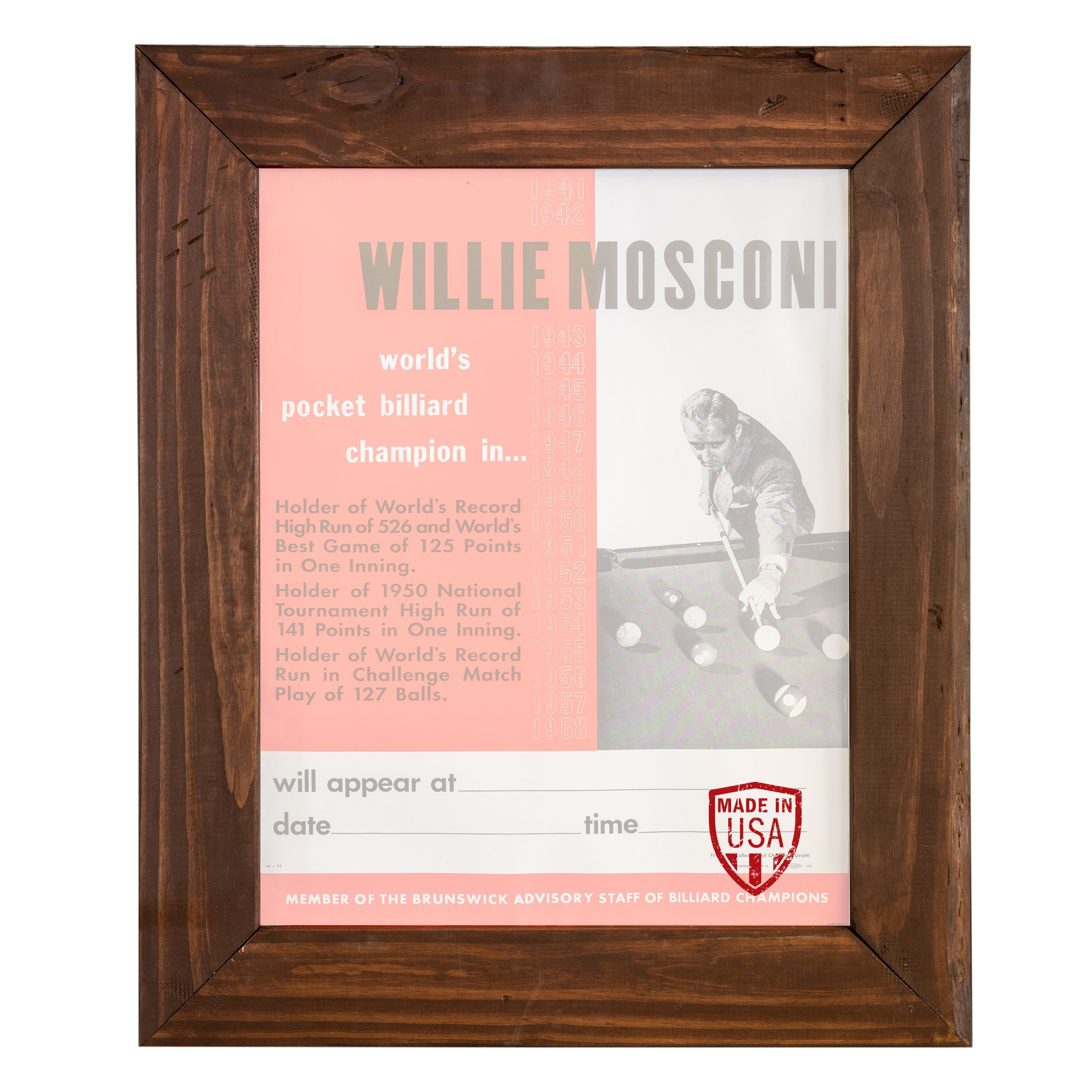 Reclaimed Wood Poster Frame