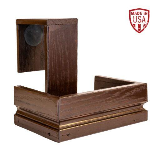 Brown Reclaimed Wood Shuffleboard Drink Holder
