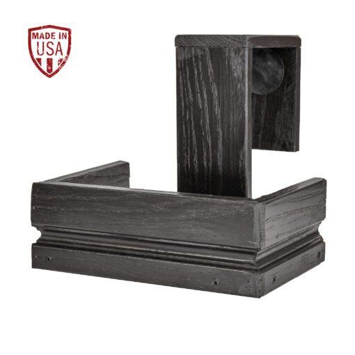 Black Reclaimed Wood Shuffleboard Drink Holder