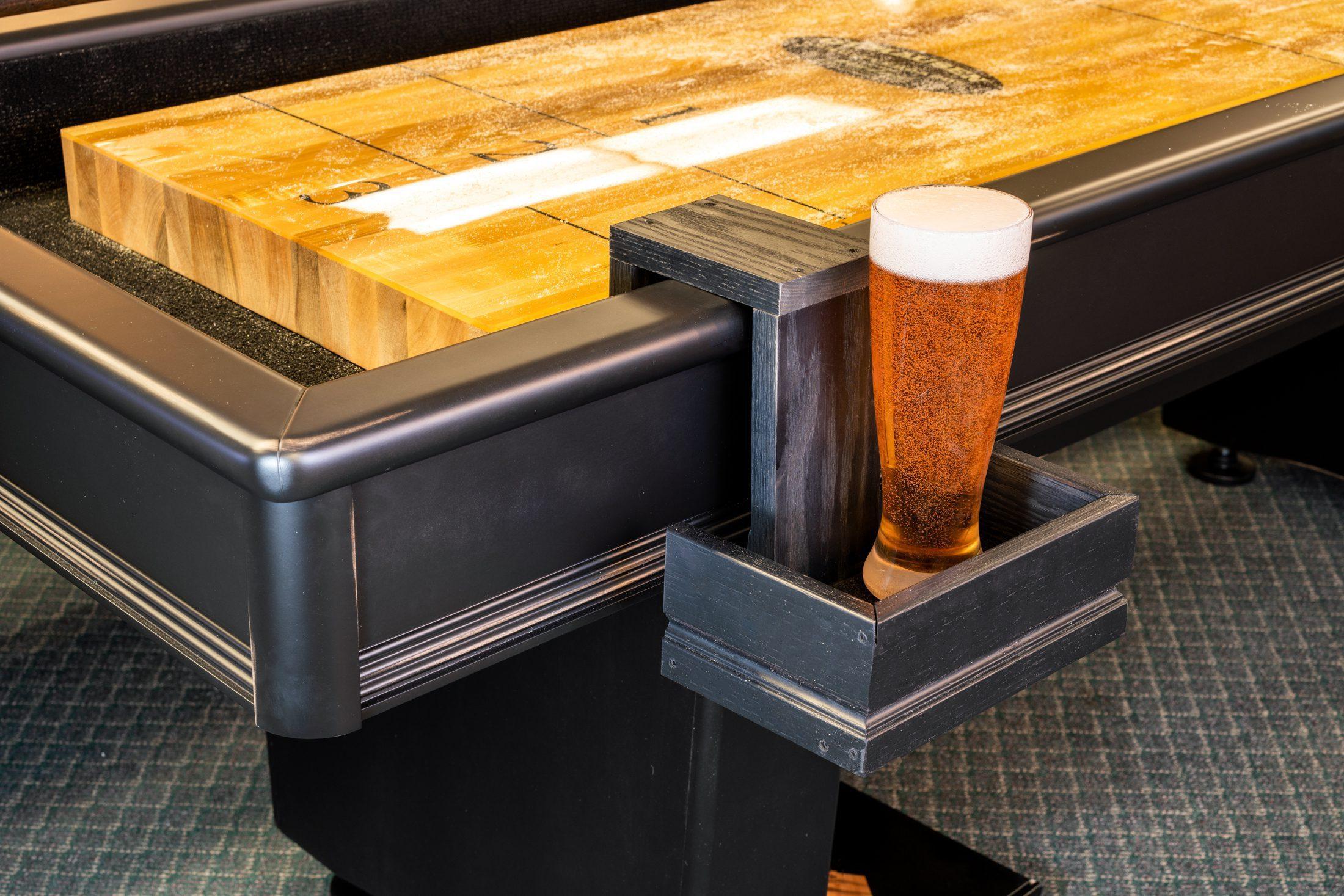 Shuffleboard Drink Holder Example