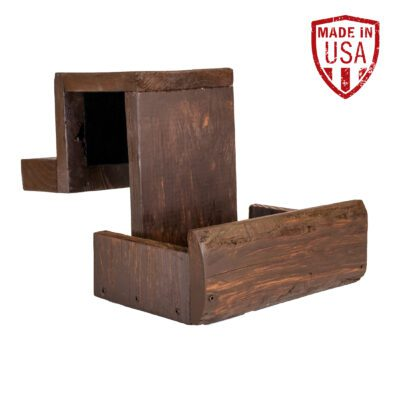 Brown Wood Shuffleboard Drink Holder