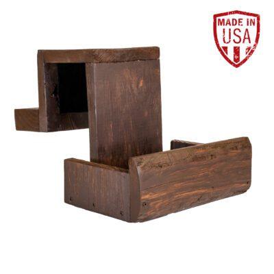 Brown Wood Shuffleboard Drink Holder