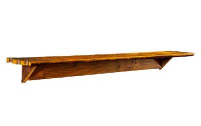 Wall Mounted Shelf & Bar – Reclaimed Wood