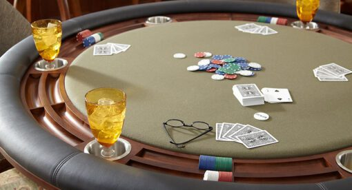 Detail image of professional poker table top