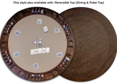Reversible Card Game and Dining Top